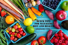 7 Quick Tips For Managing Diet And Health